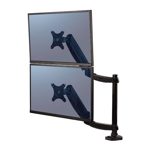 Fellowes Platinum Series Dual Stacking Monitor Arm (FEL-8043401) Image 1