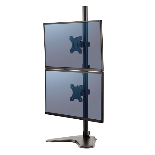Fellowes Professional Series Freestanding Dual Stacking Monitor Arm (FEL-8044001), Brands Image 1