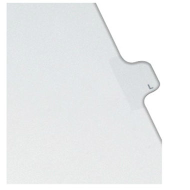 Avery L Individual Legal Index Allstate Style Dividers 25pk (AVE-82174) - $2.75 Image 1