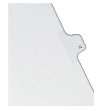 Avery N Individual Legal Index Allstate Style Dividers 25pk (AVE-82176) Image 1