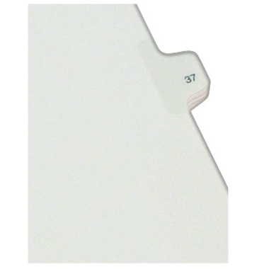 Avery 37 Individual Number Legal Index Allstate Style Dividers 25pk (AVE-82235) - $1.89 Image 1