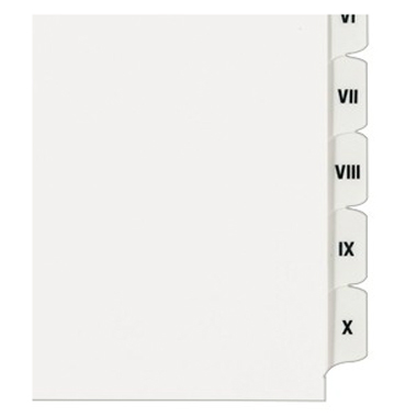 "Avery I-X White Legal 11"" x 8.5"" Style Collated Dividers (AVE-82319) - $1.6 Image 1"