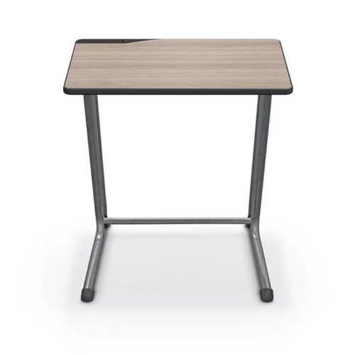 Essentials by MooreCo Edge Student Desk (Platinum Frame / Silverwood Laminate) (89707) Image 1