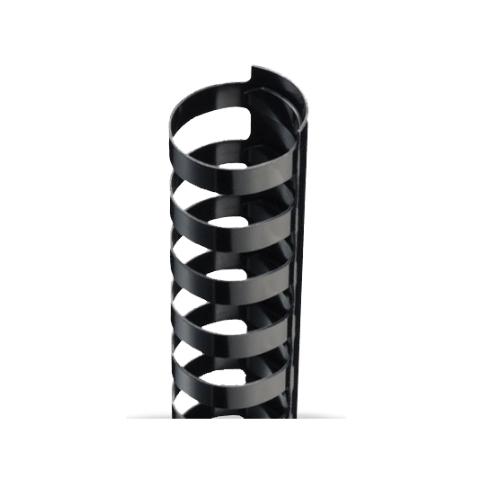 "9/16"" Black Plastic 24 Ring Legal Binding Combs - 100pk (TC916LEGAL) Image 1"