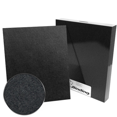 "9"" x 11"" Index Allowance 100pt Black Chipboard Covers - 25pk (MYCBB9X11-100) Image 1"