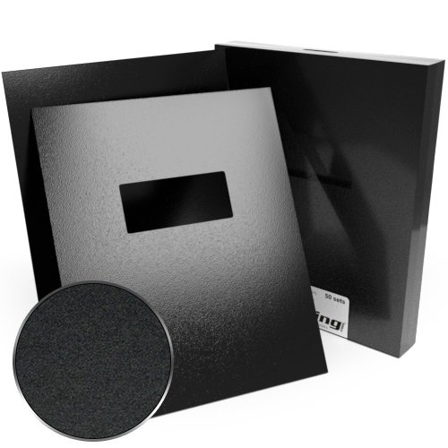 "9"" x 11"" Sand Poly 12mil Binding Covers with Windows - 100pk (Index Allowance) (MYMPSAND129X11W) - $235.55 Image 1"