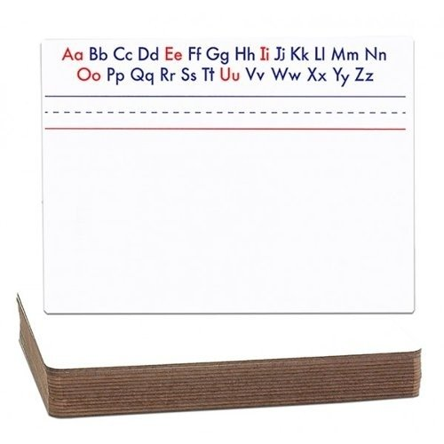 "Flipside 9"" x 12"" Magnetic Dry-Erase with Printed Alphabet/Plain Two-Sided Lap Boards (FS-9X12MDEWPAPTSLB), Flipside brand Image 1"