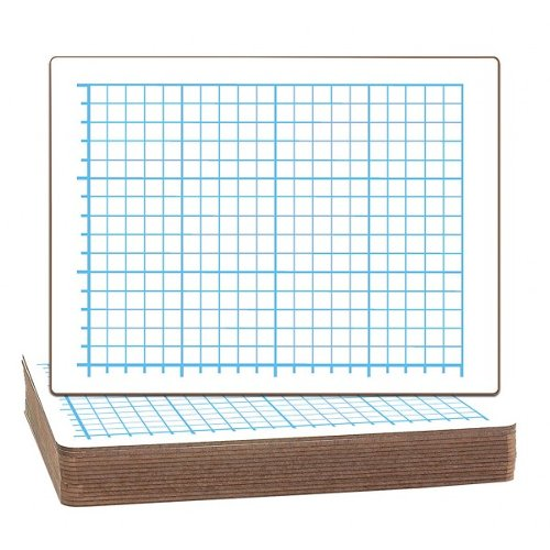 Flipside Quadrant Grid/Plain Two-Sided Dry Erase Lap Boards (FS-QGPTSDELB) Image 1