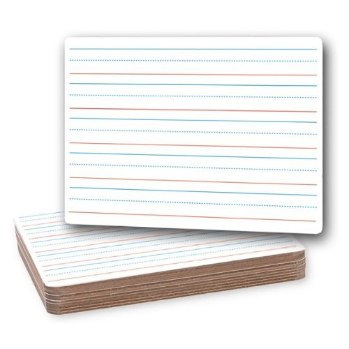 "Flipside 9"" x 12"" Red and Blue Lined/Plain Two-Sided Dry-Erase Lap Boards - 12pk (FS-10134), Flipside brand Image 1"