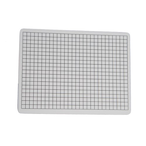 "Flipside 9"" x 12"" Two-Sided 3/8"" Squares Grid/Plain Dry-Erase Lap Boards - 12pk (FS-32159) Image 1"