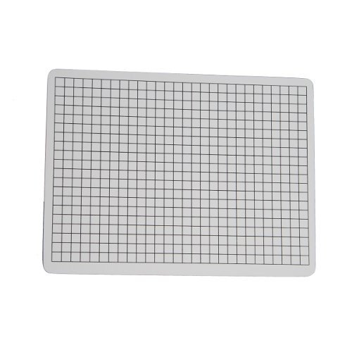 "Flipside 9"" x 12"" Two-Sided 3/8"" Squares Grid/Plain Dry-Erase Lap Boards (FS-9X12TS38SGPDELB) Image 1"