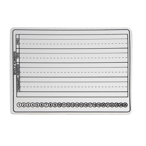 "Flipside 9"" x 12"" Two-Sided Dry-Erase Basic Skills Classroom Lap Boards for Writing and Math -12pk (FS-35955) Image 1"