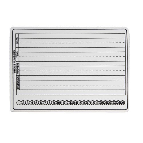 "Flipside 9"" x 12"" Two-Sided Dry-Erase Basic Skills Classroom Lap Boards (FS-9X12TSDEBSCLB) Image 1"