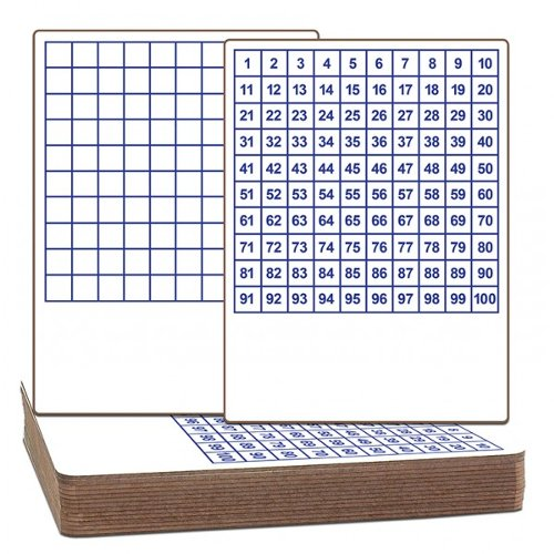 "Flipside 9"" x 12"" Two-Sided Dry-Erase Classroom Lap Boards with Printed Hundreds Grid - 12pk (FS-11223) Image 1"
