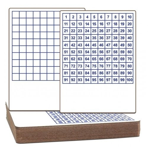 "Flipside 9"" x 12"" Two-Sided Dry-Erase Classroom Lap Boards with Printed Hundreds Grid (FS-9X12TSDECLBWPHG) Image 1"