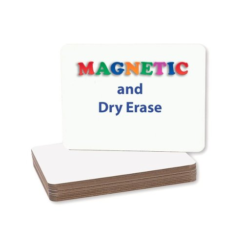 "Flipside 9"" x 12"" Two-Sided Magnetic Unframed Dry Erase Lap Boards - 12pk (FS-11277) Image 1"