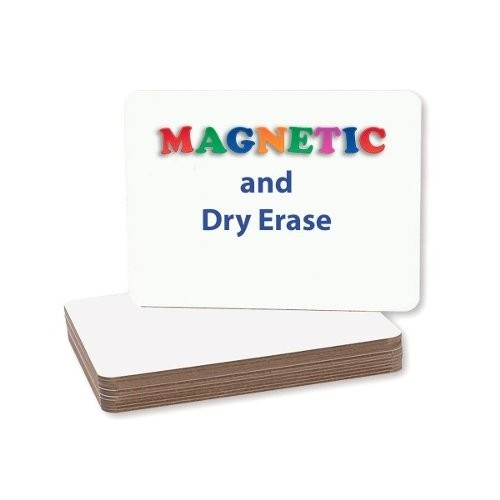 "Flipside 9"" x 12"" Two-Sided Magnetic Unframed Dry Erase Lap Boards (FS-9X12TSMUDELB) Image 1"