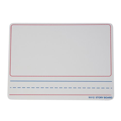 "Flipside 9"" x 12"" Two-Sided Story Dry Erase Lap Boards with Writing Lines - 12pk (FS-35259) Image 1"