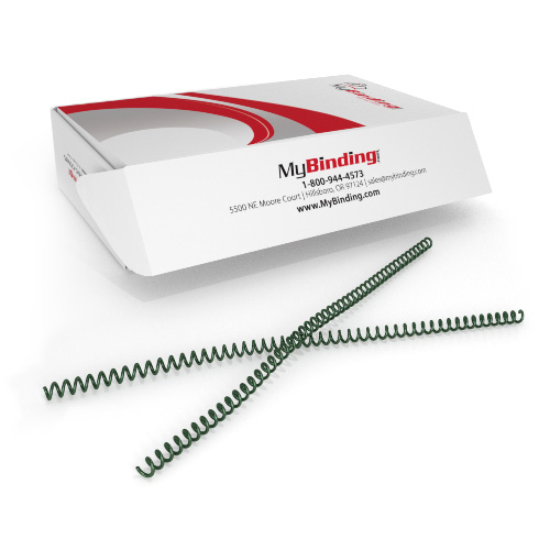 9mm Metallic Forest 4:1 Pitch Spiral Binding Coil - 100pk (P4MF0912), Binding Supplies Image 1