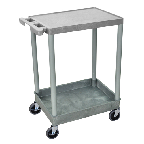 Luxor Gray Top Flat and Bottom Tub Shelf Utility Cart (STC21-G) - $77.82 Image 1