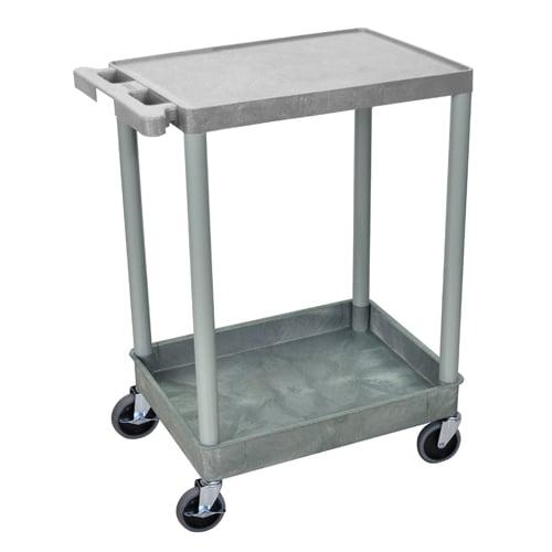 Luxor Gray Top Flat and Bottom Tub Shelf Utility Cart (STC21-G) Image 1