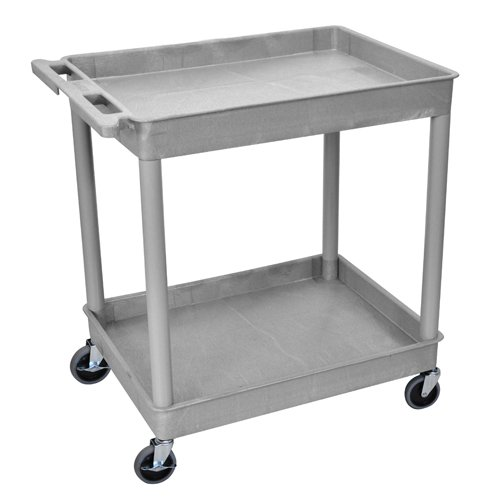Luxor 2-Shelf Gray Large Tub Utility Cart (TC11-G), Luxor brand Image 1