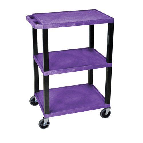 H. Wilson Purple 3-Shelf Tuffy Utility Cart (WT34PS) Image 1