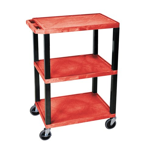 H. Wilson Red 3-Shelf Tuffy Utility Cart (WT34RS) Image 1