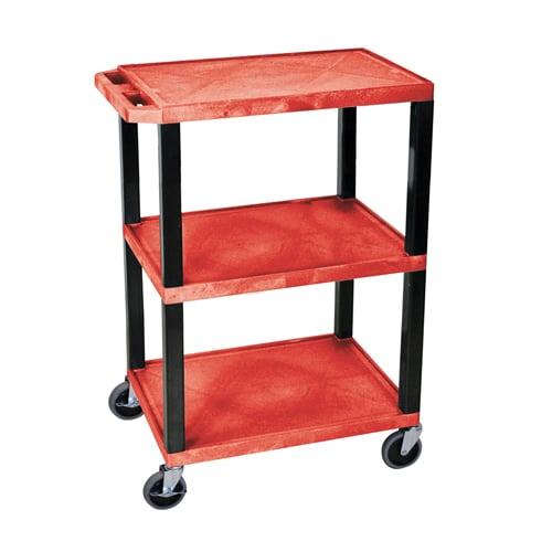 H. Wilson Red 3-Shelf Tuffy Utility Cart (WT34RS) - $94.24 Image 1
