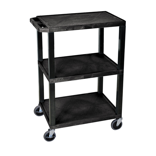 H. Wilson Black 3-Shelf Tuffy Utility Cart (WT34S) Image 1