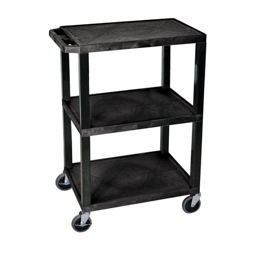 H. Wilson Black 3-Shelf Tuffy Utility Cart (WT34S) - $72.89 Image 1