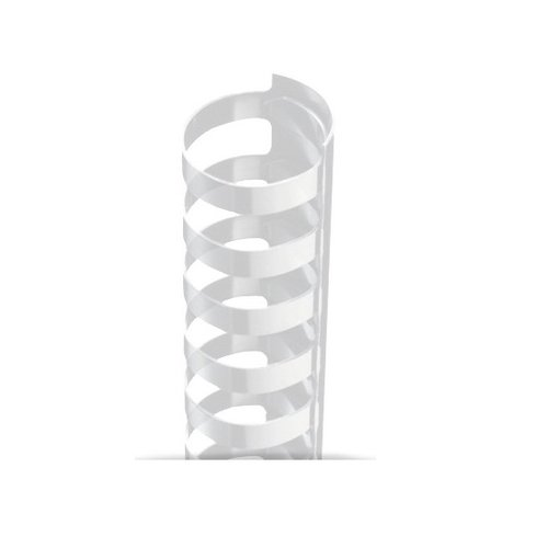 "9/16"" A4 Size Clear Plastic Binding Combs 21 Rings - 100pk (TC916A4CL) Image 1"