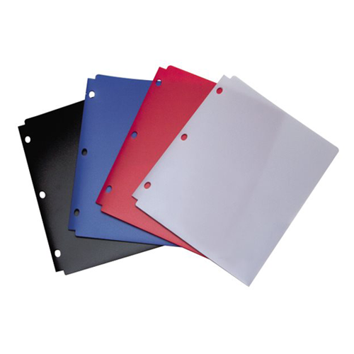 Poly Colored 3 Ring Folders Image 1