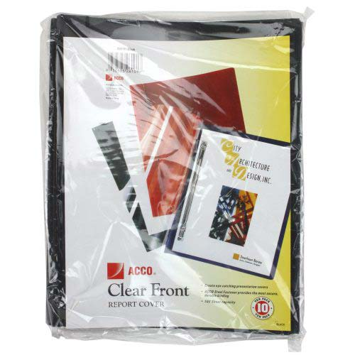 Black Vinyl Sheets for Presentation Covers Image 1