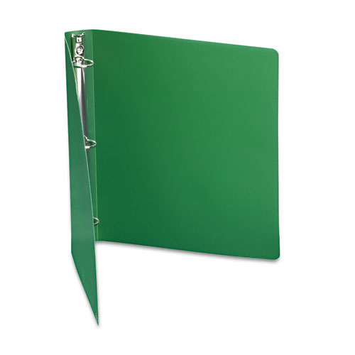 "Acco 1"" Forest Green 23pt ACCOHIDE Poly Round Ring Binder (ACC-39716) Image 1"