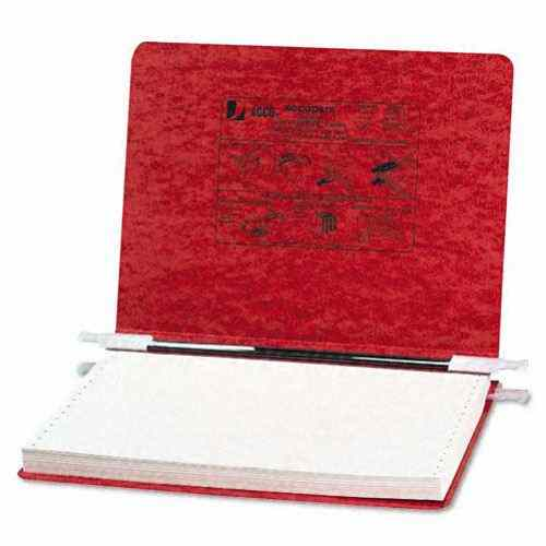 "Acco Executive Red 12"" x 8.5"" PRESSTEX Hanging Data Binder (ACC-54139) Image 1"