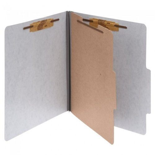 Acco Presstex Legal Size Gray 4-Part Classification Folder with Fasteners 1pk - ACC-16014 (A7016014) - $0.06 Image 1