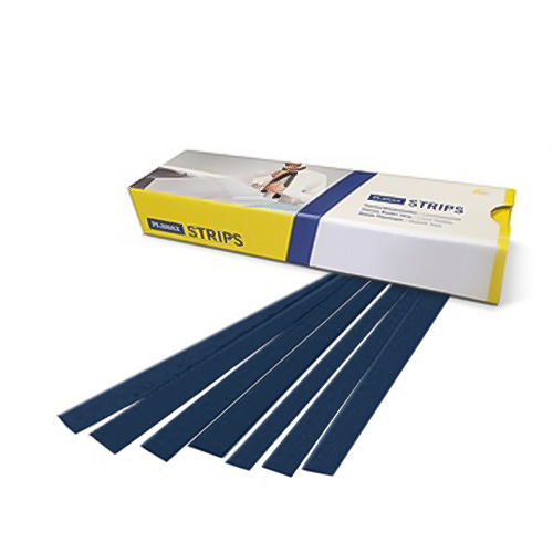 "Planax Copy Binder Dark Blue 13/16"" x 11"" Tape Binding Strips (Size A) - 100/Box (AB1-A1007S) Image 1"