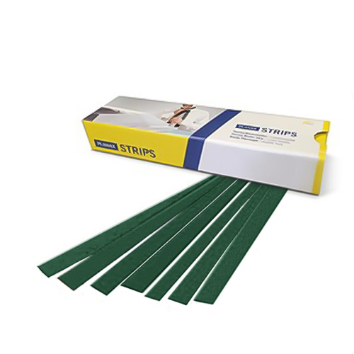 "Planax Copy Binder Green 2"" x 11"" Tape Binding Strips (Size F) - 100/Box (AB1-F3506S) Image 1"