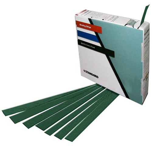"Planax Copy Binder Green 1-3/8"" x 11"" Tape Binding Strips (Size D) - 179/Roll (AB1-D2506) Image 1"