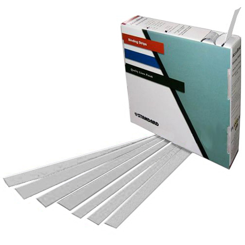 "Planax Copy Binder Grey 1-3/16"" x 11"" Tape Binding Strips (Size C) - 179/Roll (AB1-C2008) Image 1"