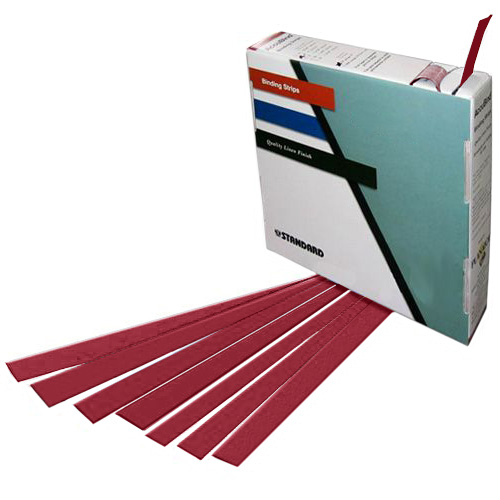 "Planax Copy Binder Red 1-3/16"" x 11"" Tape Binding Strips (Size C) - 179/Roll (AB1-C2003) Image 1"