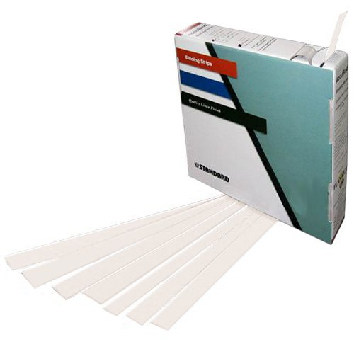 "Planax Copy Binder White 1-3/8"" x 11"" Tape Binding Strips (Size D) - 179/Roll (AB1-D2501) - $95.06 Image 1"