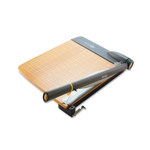 "Westcott TrimAir Titanium 15"" Guillotine Paper Trimmer with Wood Base (ACM15107), Brands Image 1"