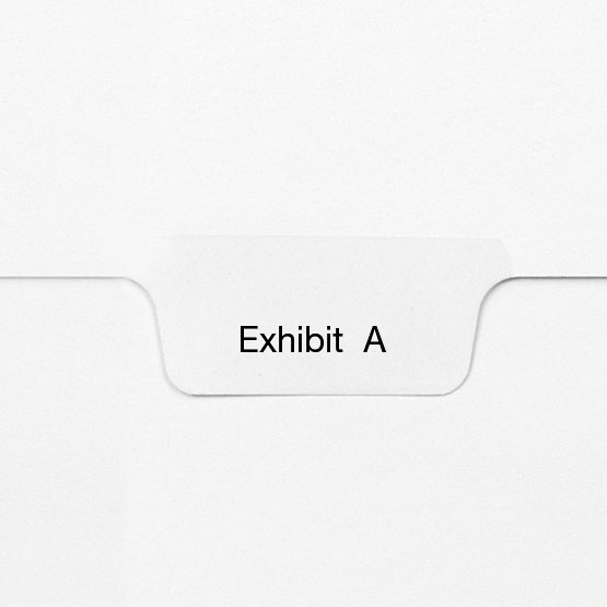 All-State Style Letter Size Exhibit Individual Letter Bottom Tab Legal Indexes (HCMLTG60) Image 1