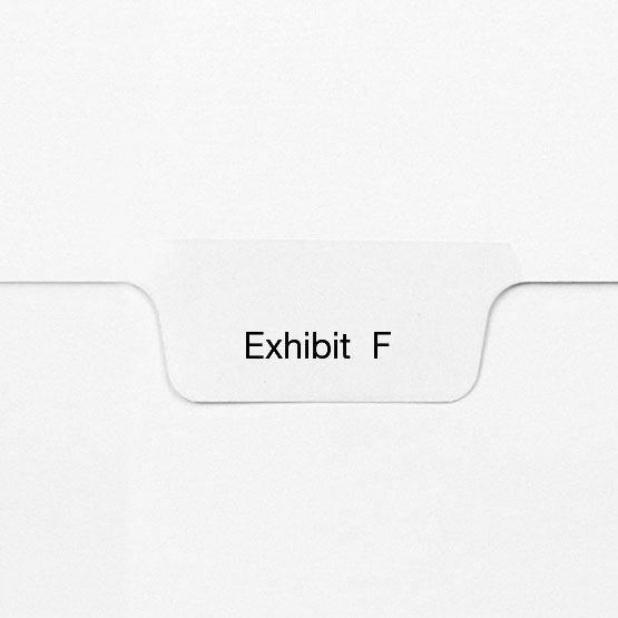 EXHIBIT F - All-State Style Letter Size Bottom Tab Legal Indexes - 25pk (HCM127783) Image 1
