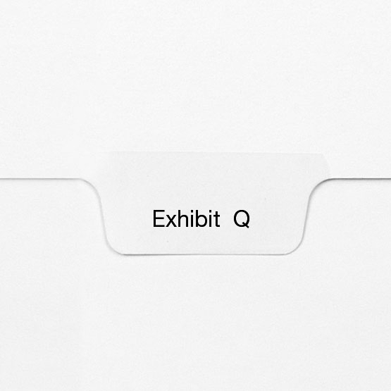 EXHIBIT Q - All-State Style Letter Size Bottom Tab Legal Indexes - 25pk (HCM127794) Image 1