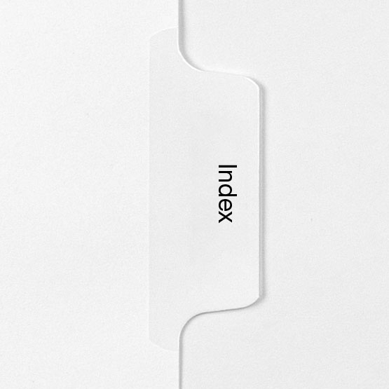INDEX - All-State Style Letter Size Side Tab Legal Indexes - 25pk (HCM158951), Index Dividers Image 1