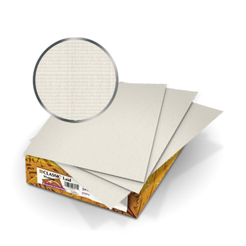 "Neenah Paper Antique Gray Classic Laid 8.75"" x 11.25"" Covers With Windows - 50 Sets (MYCLC8.75X11.25AG80W) Image 1"