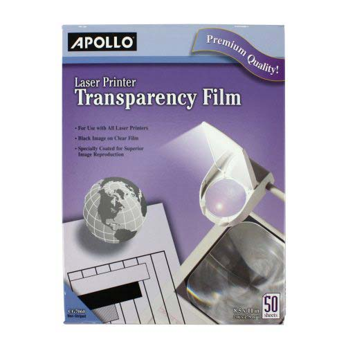 Quartet Apollo Laser Printer Transparency Film 50pk (APO-VCG7060E) Image 1